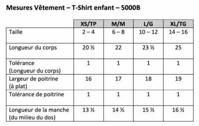 Charte - T-Shirt enfant - 5000B