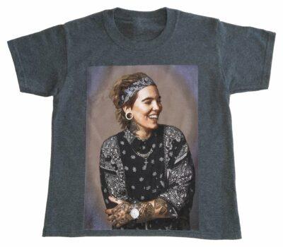 T-Shirt Gris Foncé Cendré Enfant Acrophobie